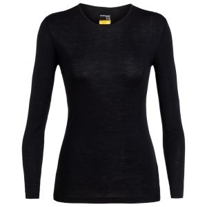 Icebreaker Women´s 175 Everyday L/S Crewe - Sous-vêtement mérinos taille S, noir