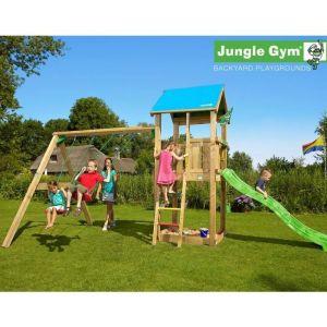 Trigano Jungle castle - Tour de jeu et balançoire