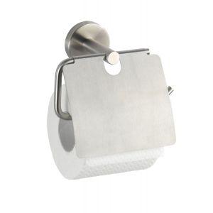 Wenko Porte papier WC en rouleau avec couvercle