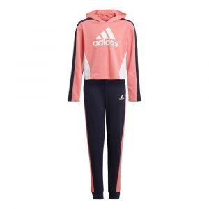 Adidas Survêtement HoodedCROP TS Rose - Taille 14-15 Ans