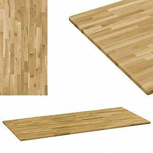 VidaXL Dessus de table Bois de chêne Rectangulaire 23 mm 100x60 cm