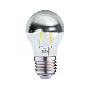 Vision-El Ampoule LED COB FILAMENT 4W (35W) E27 Blanc chaud 2700°K G45 Argent -