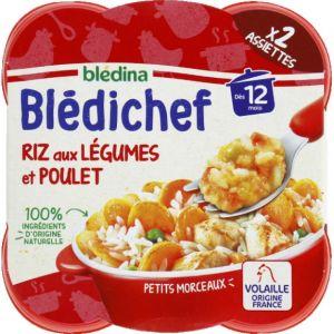 Blédina Bledichef 2x230g riz aux légumes et poulet dès 12 mois