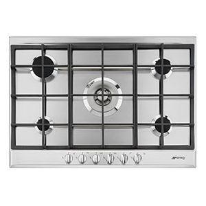 Smeg P272XGH - Table de cuisson gaz 5 foyers