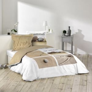 Love - Housse de couette et 2 taies 100% coton 42 fils (220 x 240 cm)