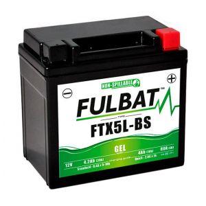 Fulbat Batterie moto Gel YT5L-BS / YTX5L-BS 12V 4Ah