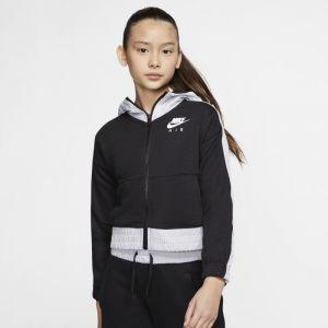 Nike Sweatà capuche et zip Air pour Fille plus âgée - Noir - Taille XL - Female