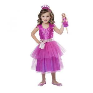 Amscan Déguisement Barbie Princesse & Mini Me - Taille S (3/5 ans)