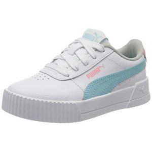 Puma Carina L PS, Baskets Fille, Blanc White-Gulf Stream 06, 30 EU