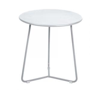 Fermob Table d'appoint Cocotte / Tabouret - Ø 34 x H 36 cm blanc coton en métal