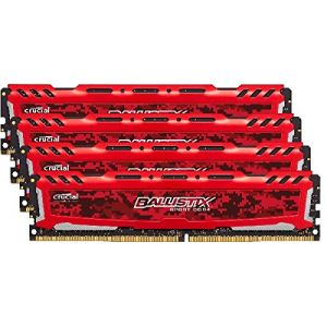 Crucial BLS4C16G4D240FSE - Barrette mémoire Ballistix Sport LT 64 Go (4 x 16 Go) DDR4 2400 MHz