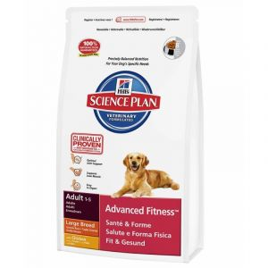 Hill's Science Plan Canine poulet Advanced Fitness - Croquettes pour chien adulte grandes races 18 kg