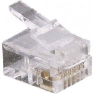 Dexlan Connecteur 6/6 RJ12 - sachet de 50