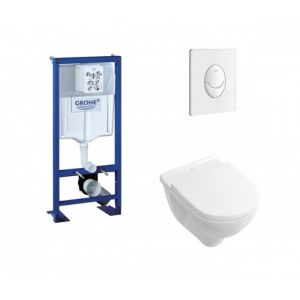 Grohe Pack Rapid SL + Cuvette O'Novo VILLEROY + Plaque Blanche