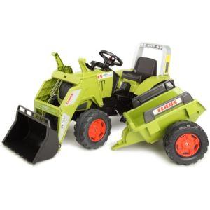 Falk Tracteur à pédales Claas Ares avec pelle et remorque GM