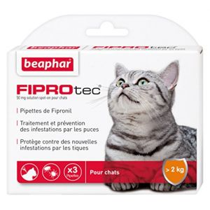 Beaphar Fiprotec - Pipettes antiparasitaires pour chat -