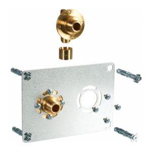 Watts Industries Sortie de cloison double à glissement Entraxe 50 mm PER Ø 12 mm M 3/8' Robifix industrie
