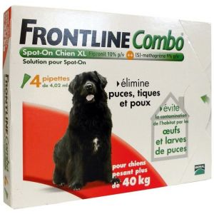 Merial Frontline Combo Spot-On Chien XL 40-60 kg