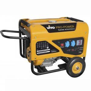 Vito Pro-Power Groupe électrogène 6.5KVA VITO ProPower 5500W 13cv Essence Monophasé 6.5Kva 389cm3 Autonomie 10h