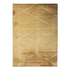Alecto DIAMS Tapis de salon - 120 x 170 cm - Polypropylène - Jaune