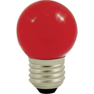 LightMe Ampoule LED LM85254 230 V E27 1 W rouge en forme de goutte (Ø x L) 45 mm x 70 mm 1 pc(s)