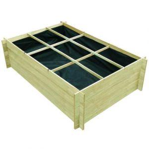 VidaXL Planteuse imprégnés de bois 150 x 100 40 cm