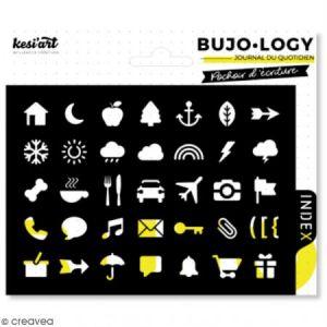 Kesi'art Pochoir d'écriture pour bullet journal - Bujo Logy - Loisirs et météo