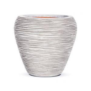 Capi Tutch Pot vase rond évasé strié 42 x 38 cm