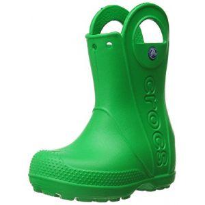 Crocs Handle It,Bottes de Pluie,Mixte Enfant,Vert (Grass Green), 27/28 EU