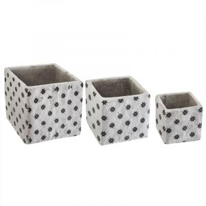 "Lot de 3 Cac Pots Ciment ""Collect"" 14cm Gris Prix"