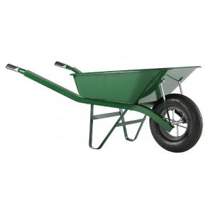 Image de Haemmerlin 302334006 - Brouette Bati Plus peinte roue pleine 100 L