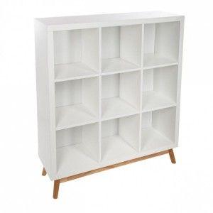 etagre bibliothque 9 cases aban 110cm blanc