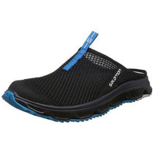 Salomon Homme RX Slide 3.0 Chaussons/Sandales, Noir/Bleu Ciel (Black/Black/Hawaiian Surf), Taille: 41 1/3