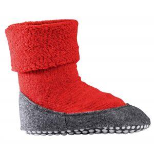 Falke Cosyshoes SO - Chaussons Enfant - gris/rouge EU 27-28 Chaussons & Pantoufles