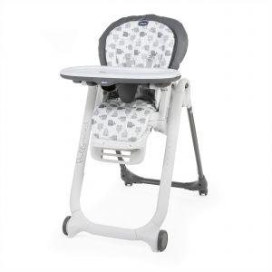 Chicco Chaise haute bébé polly progres5 - 4 roues grey