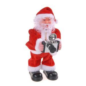 Automate Père Noël photographe (25 cm)