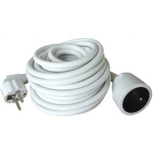 Hobby Tech Rallonge électrique 10 mètres - 3 x 1.5mm2 - 250v 16 A 3500W - Blanche
