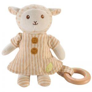 EverEarth EE33699 - Peluche mouton avec anneau en bois