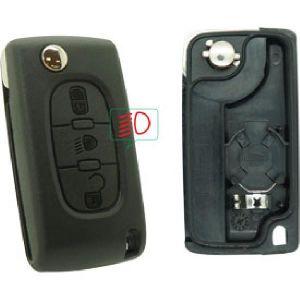 Neoriv Coque de clé télécommande PSA378P