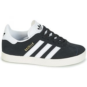 Adidas Gazelle, Baskets Basses Mixte Enfant, Noir (Core Black/FTWR White/Gold Metallic), 33 EU