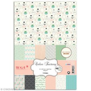 Toga Papier scrapbooking - Color factory - Enjoy the Little Things - 48 feuilles A6