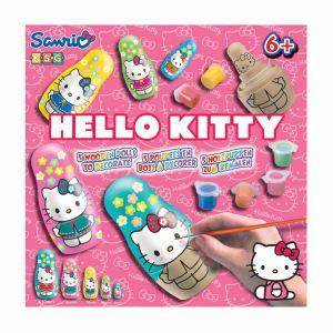 KSG 5 poupées en bois à décorer Hello Kitty