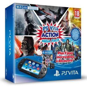 Sony PS Vita Slim (2000) Wi-Fi + Voucher Action MegaPack + Carte mémoire 8 Go