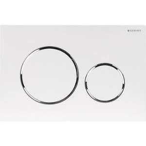 Geberit 115.882.KJ.1 - Plaque de déclenchement WC Duofix Sigma 20 blanc chromé