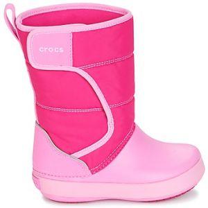 Crocs LodgePoint Snow Boot Kids, Mixte enfant Bottes, Rose (Candy Pink/Party Pink), 22-23 EU