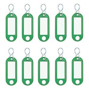Wedo 262 103404 - Porte-clés crochet en S, vert, contenu: 10 pièces