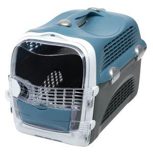 Catit Cage de transport Cabrio - Bleu gris - Pour chat