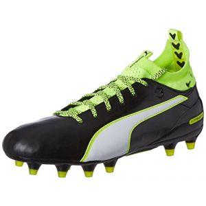 Puma Evotouch 1 FG, Chaussures de Football Compétition Homme, Noir (Black-White-Safety Yellow 01), 41 EU
