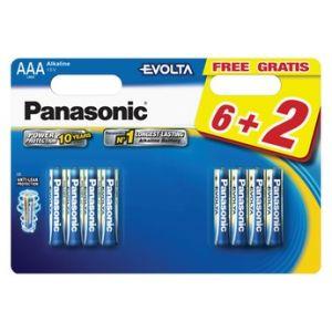 Panasonic Pile LR03 AAA 6+2 EVOLTA