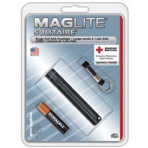 Maglite Mini lampe de poche Mag-Lite Solitaire Ampoule crypton avec porte-clés à pile(s) 37 lm 3.75 h 24 g